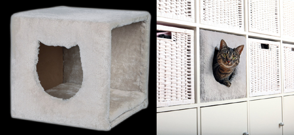 aufgepasst gewinnt 1x eine trixie katzen kuschelh hle f r ikea regal entertainment base de. Black Bedroom Furniture Sets. Home Design Ideas